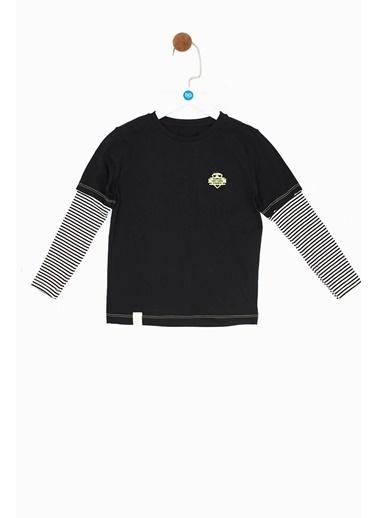 Nebbati Erkek Çocuk Siyah T-Shirt Siyah